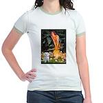 Fairies & Maltese Jr. Ringer T-Shirt