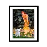 Fairies & Maltese Framed Panel Print