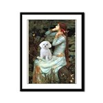 Ophelia's Maltese Framed Panel Print