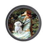 Ophelia's Maltese Wall Clock