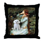 Ophelia's Maltese Throw Pillow