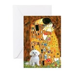 The Kiss / Maltese Greeting Cards (Pk of 10)