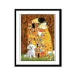The Kiss / Maltese Framed Panel Print