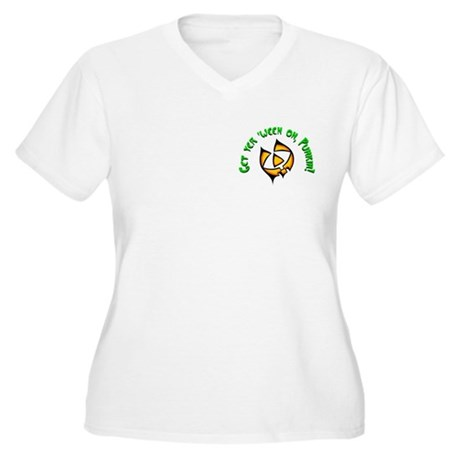 Get yer 'ween on... Women's Plus Size V-Neck T-Shi