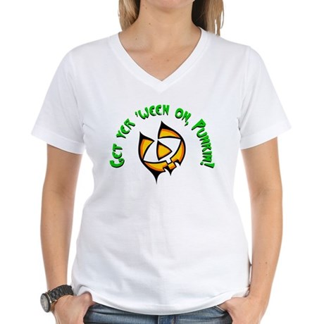Get yer 'ween on... Women's V-Neck T-Shirt