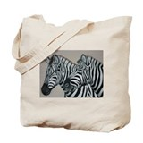 Funny Zebras Tote Bag