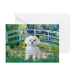 Bridge / Maltese Greeting Cards (Pk of 20)