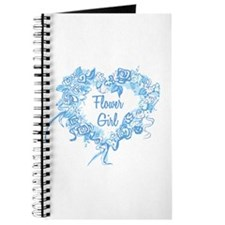 BP Blue Heart Flower Girl Journal