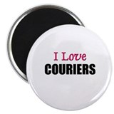 "I Love COURIERS 2.25"" Magnet (10 pack)"
