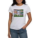 Lilies (2) & Maltese Women's T-Shirt