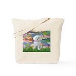Lilies (2) & Maltese Tote Bag