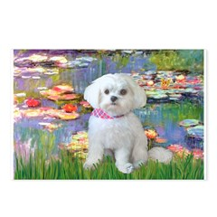 Lilies (2) & Maltese Postcards (Package of 8)
