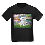 Lilies (2) & Maltese Kids Dark T-Shirt