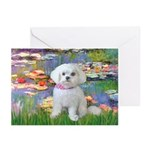 Lilies (2) & Maltese Greeting Cards (Pk of 20)