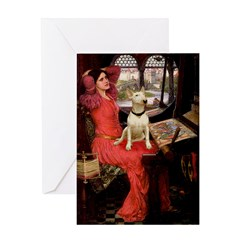 The Lady's Bull Terrier Greeting Card