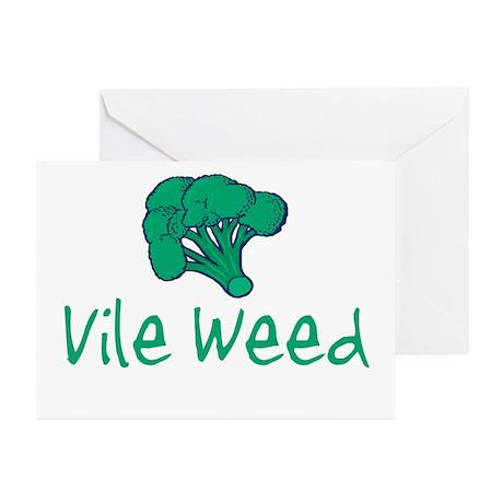 Vile Weed Greeting Cards (Pk of 10)