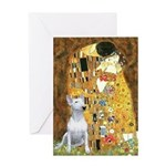 The Kiss & Bull Terrier Greeting Card