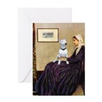 Mom's Bull Terrier (#1) Greeting Card