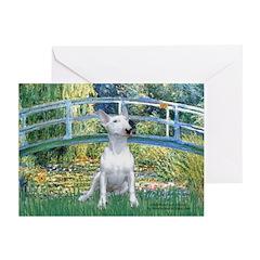 Bridge-BullTerrier (P) Greeting Cards (Pk of 20)