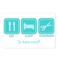 Eat, Sleep, Scrapbook Postcards (Package of 8)