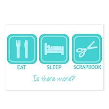 Eat, Sleep, Scrapbook Postcards (Package of 8)