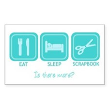 Eat, Sleep, Scrapbook Rectangle Decal