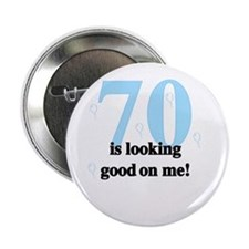 70th Birthday Button