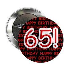 Happy 65th Birthday Button