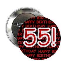 Happy 55th Birthday Button