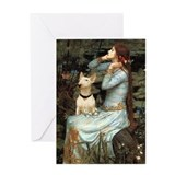 Ophelia & Bull Terrier Greeting Card