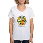 Zuloaga Family Crest Women's V-Neck T-Shirt