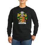 Zuloaga Family Crest Long Sleeve Dark T-Shirt