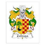 Zuloaga Family Crest Small Poster
