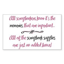 Memories vs. Scrapbook Supplies Sticker (Rectangul