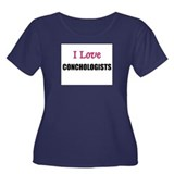 I Love CONCHOLOGISTS Women's Plus Size Scoop Neck