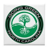 Going Green North Carolina (Tree) Tile Coaster