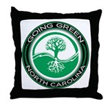 Going Green North Carolina (Tree) Throw Pillow