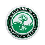Going Green North Carolina (Tree) Ornament (Round)