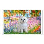 Garden / Maltese Sticker (Rectangle)