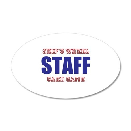 Ships Wheel Card Game STAFF Wall Decal