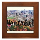 Montreal City Signature cente Framed Tile