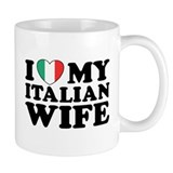 I Love My Italian Wife Small Mug