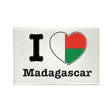 I love Madagascar Rectangle Magnet