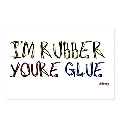 I'm Rubber, You're Glue Postcards (Package of 8)