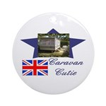Caravan Cutie Flag Ornament (Round)
