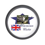 Caravan Cutie Flag Wall Clock