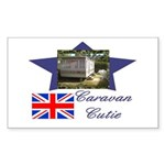Caravan Cutie Flag Rectangle Sticker
