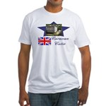 Caravan Cutie Flag Fitted T-Shirt