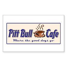 Pitt Bull Cafe Rectangle Decal