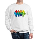 Rainbow Argyle Sweatshirt
